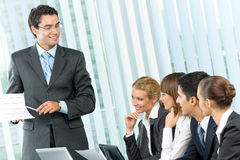 Business meeting, seminar or conference Royalty Free Stock Photography