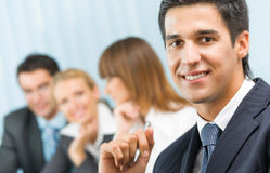 Business meeting, seminar or conference Royalty Free Stock Image