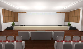 Business meeting Seminar room conference and Seats Stock Images