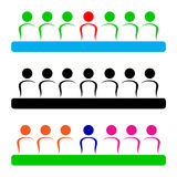 Business meeting. Simple illustration of business meeting logo Royalty Free Stock Photos