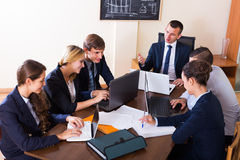 Business meeting of successful team Royalty Free Stock Image