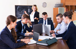Business meeting of successful team Royalty Free Stock Images