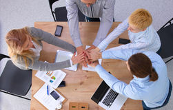 Business meeting at the table top view Royalty Free Stock Photography