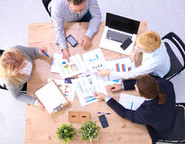 Business meeting at the table top view Stock Photography