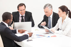 Business meeting. Team of business people. mixed ages, diverse. Management Stock Image