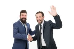 Business meeting. team success. collaboration and teamwork. bearded businessmen in formal suit. partnership of boss men. Isolated on white. mature men have own stock photos