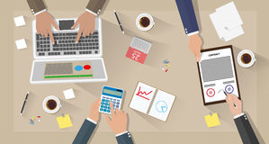 Business meeting and team work Royalty Free Stock Photography