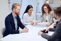 Business meeting and teamwork by business people Stock Photography