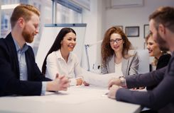 Business meeting and teamwork by business people Royalty Free Stock Photography