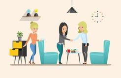 Business meeting. Teamwork shared working. set 2. Business meeting. Teamwork shared working. Vector design set 2 Stock Image