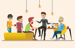 Business meeting. Teamwork shared working. set 3. Business meeting. Teamwork shared working. Vector design set 3 Royalty Free Stock Images