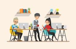 Business meeting. Teamwork shared working. set 4. Business meeting. Teamwork shared working. Vector design set 4 Stock Images