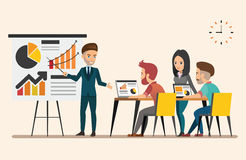 Business meeting. Teamwork shared working. set 5. Business meeting. Teamwork shared working. Vector design set 5 Royalty Free Stock Image