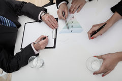 Business meeting with three employees Royalty Free Stock Image