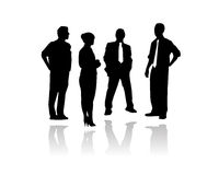 Business meeting vector. Vectored illustration as silhouette of businessmen and key people having a meet up for brainstorming vector illustration