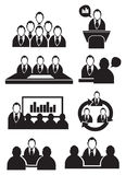 Business Meeting Vector Icon Set Royalty Free Stock Image