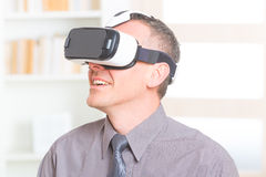Business meeting with virtual reality headset Stock Photo