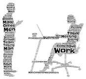 Business Meeting Word Art stock illustration