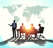 Business meeting with worldmap Royalty Free Stock Photos