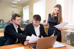 Business meeting of young people Royalty Free Stock Images