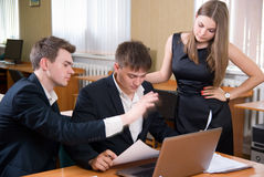 Business meeting of young people Stock Images