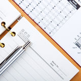 Business memo and balance book Royalty Free Stock Image
