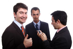 Business men. Three young business men portrait on white Stock Photo