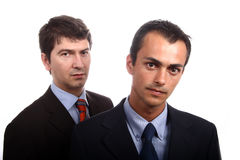 Business men. Two young business men portrait on white Stock Photography