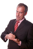 Business men. Portrait on white Stock Images