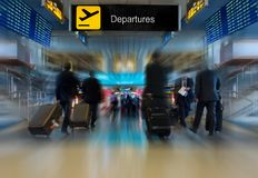 Business Men at the Airport Royalty Free Stock Photography