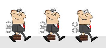 Business men with briefcases and keys Stock Image