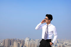 Business men call by smart phone Stock Image
