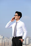 Business men call by smart phone Royalty Free Stock Photo