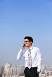 Business men call by smart phone Stock Photography