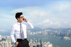 Business men call by smart phone Stock Photos