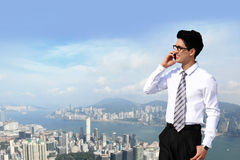 Business men call by smart phone Royalty Free Stock Photos