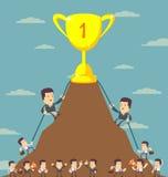 Business Men in Career Race Stock Photo