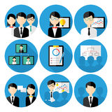 Business men concepts icon set Royalty Free Stock Photography