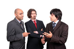 Business men debating Royalty Free Stock Images