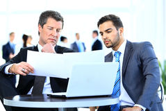 Business men discussing Royalty Free Stock Photo
