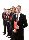 Business men with documents Stock Image