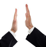 Business men doing a high five Royalty Free Stock Photos