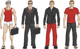 Business men dress set. (young man Royalty Free Stock Image
