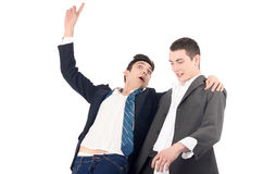 Business men drunk. Royalty Free Stock Photography