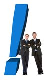 Business men with an exclamation mark Stock Photography