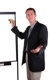 Business men explain. Handsome business men explain at the whiteboard stock photo