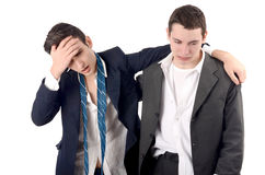 Business men fired, upset, crying. Royalty Free Stock Images