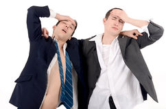 Business men fired, upset. Royalty Free Stock Photo