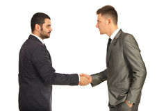 Business men giving hand shake Royalty Free Stock Images