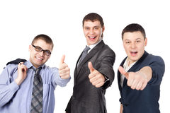 Business men giving the thumbs up sign Royalty Free Stock Photo